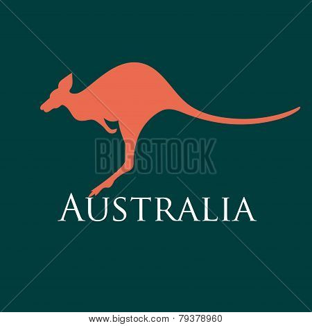 sign silhouette kangaroo
