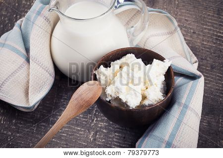 Dairy Products - Cottage Cheese, Milk.