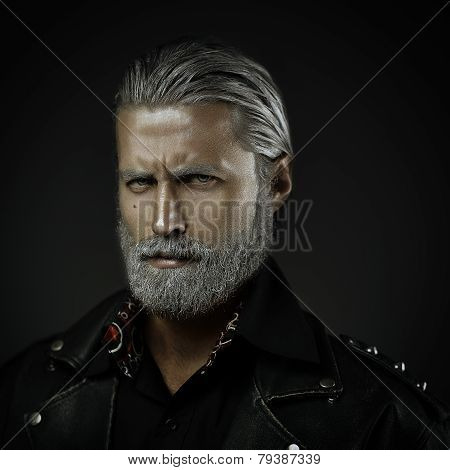 Gray Haired Man Portrait