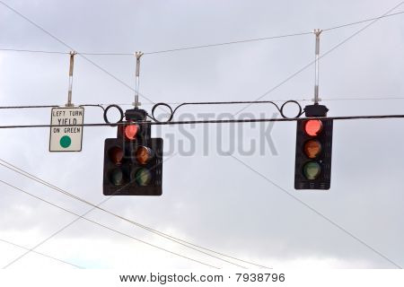 Trafic Stoplight Series Red Stop