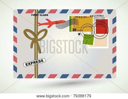 Special Express delivery of snail mail envelope mail