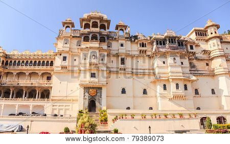 Udaipur City Palace In Rajasthan State