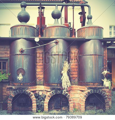 Old brewery. Instagram style filtred image