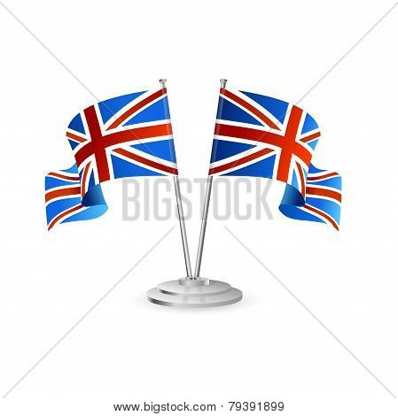 UK vector table flag isolated