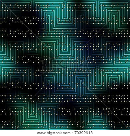 Dark green matrix pattern with the imitation of dots