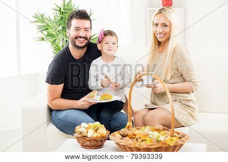 The Family Enjoys In Bakery Products