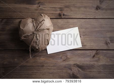 Heart Wrapped In Brown Kraft Paper