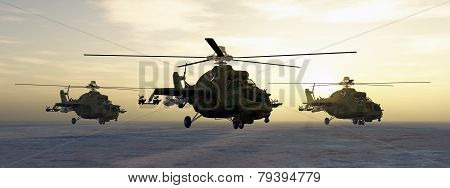 Soviet attack helicopters