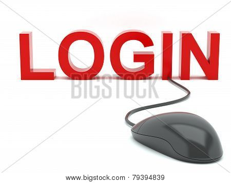 Login connected to a computer mouse