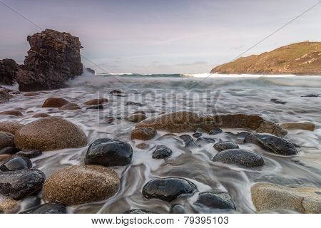 Porth leaden beach