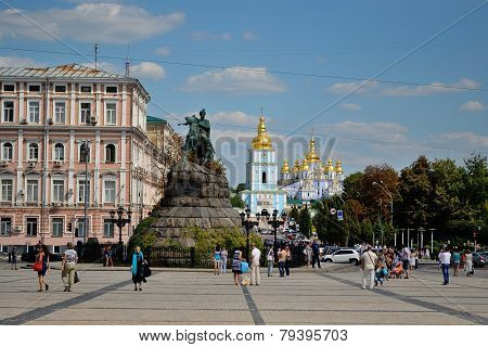 Bogdan Khmelnitsky Monument And St. Sofia's Square, Kiev