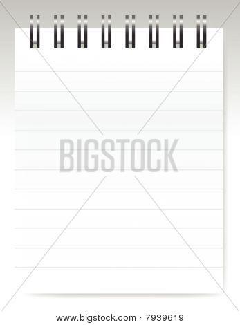 Blank notebook / vector