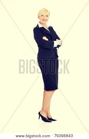 Mature bussines woman full portrait.