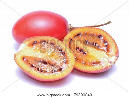 tamarillo isolated on white background