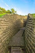 stock photo of battlefield  - The trenches on battlefield of Vimy ridge France - JPG