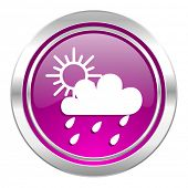 rain violet icon waether forecast sign  poster