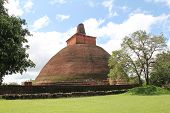 stock photo of enormous  - Jetavana dagoba was built in the 3rd century AD by King Mahasena - JPG