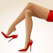 picture of slender legs  - Cross - JPG