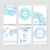stock photo of booklet design  - Applications and Infographic Concept - JPG