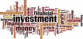picture of macroeconomics  - Investment word cloud concept - JPG