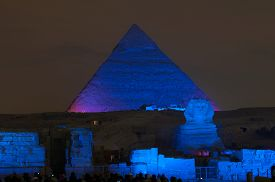pic of triangular pyramids  - CAIRO EGYPT  - JPG