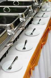stock photo of chafing  - catering wedding - JPG