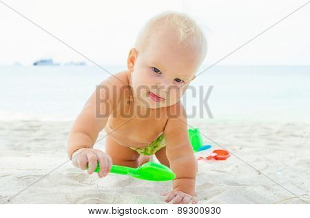 Children playing on the coastline