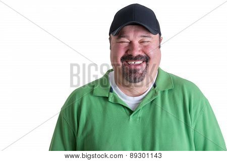 Portrait Of Joyful Man Wearing Green Shirt