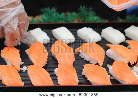 Making Japanese Sushi Traditional - Japanese Food
