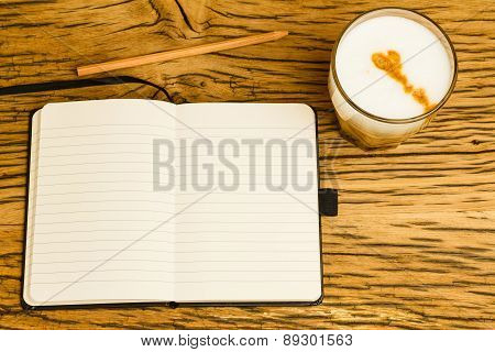 Concept Empty Notebook Pencil Start Day