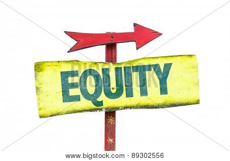 Equity sign isolated on white