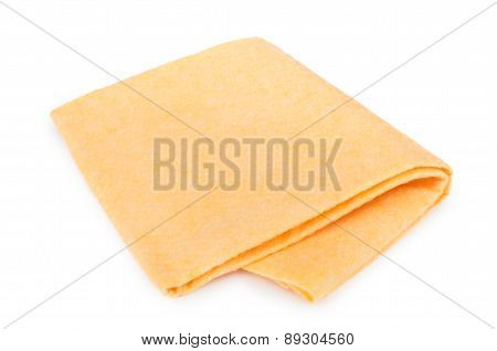 Yellow Soft Absorbent Doormat Isolated On White