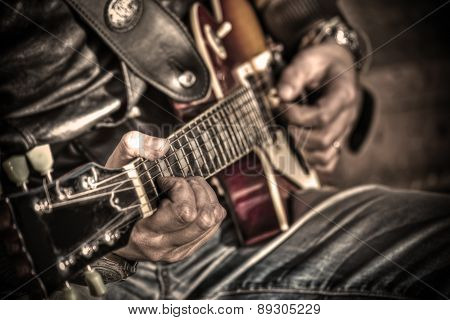 Guitar Player In Hdr