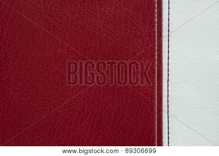 Red And White Leather Texture Background