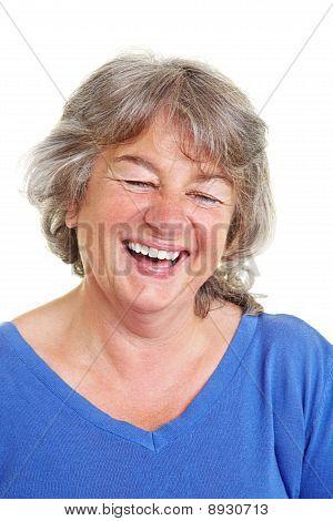 Rindo feminino idoso