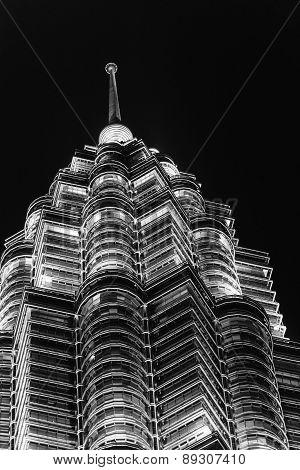 The Petronas Towers In Kuala Lumpur