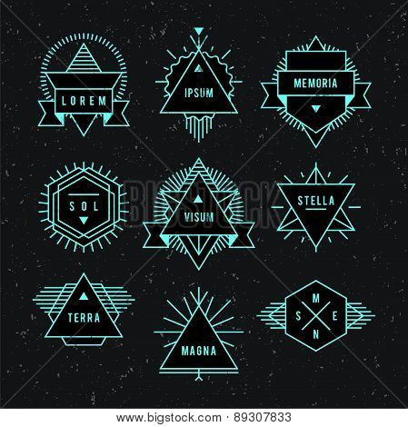 Geometric vintage label.