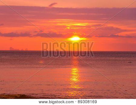 Setting Sun Fiery Backdrop