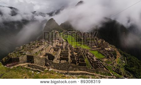 The Foggy Ruins Of Machu Picchu
