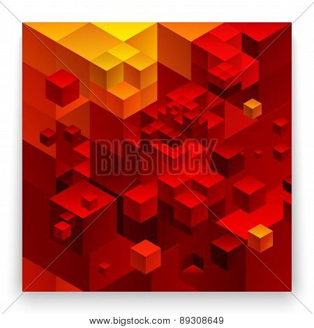 Cubic abstract background.