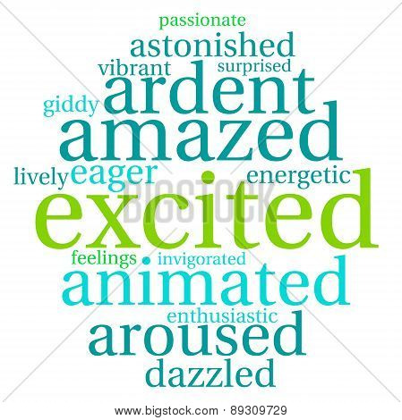 Excited Word Cloud
