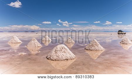 Salt flats of Uyuni in Bolivia