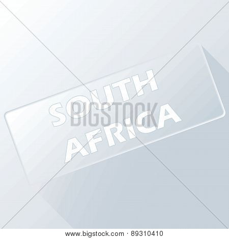 South Africa unique button