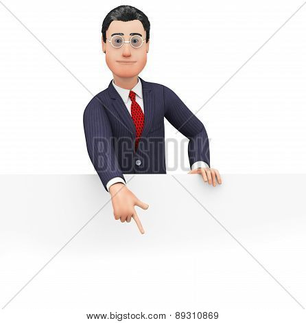 Businessman With Copyspace Indicates Commercial Businessmen And Announce