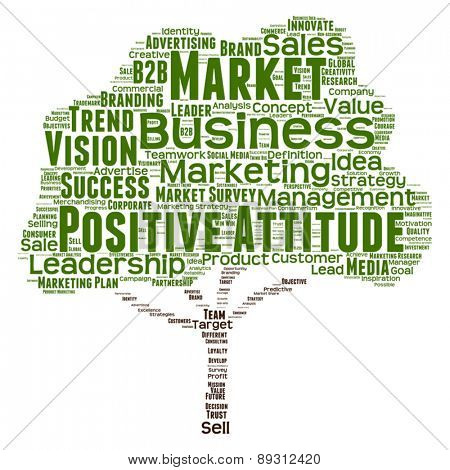Vector concept or conceptual green tree leadership marketing or