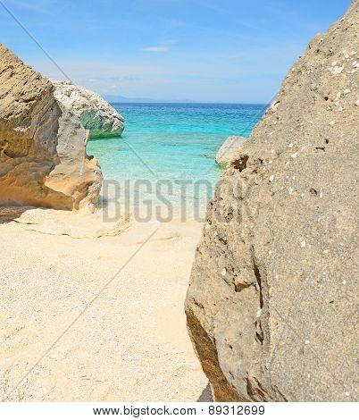 Rocks In Cala Mariolu Shore