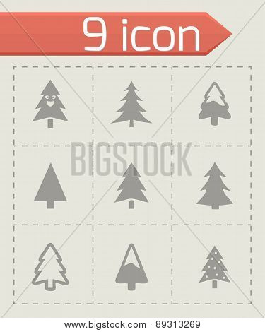 Vector cristmas trees icons set