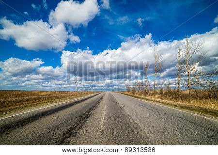 road leaving afar