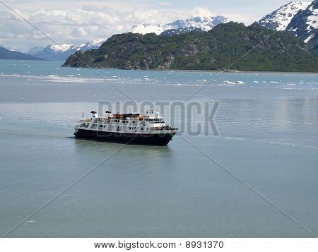 Sightseeing Ship On Glacier Bay