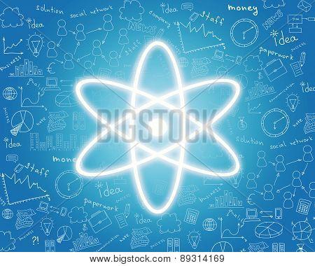 Nuclear energy icon